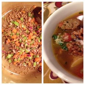 wheat berrie soup