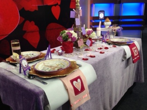 Valentines table shot